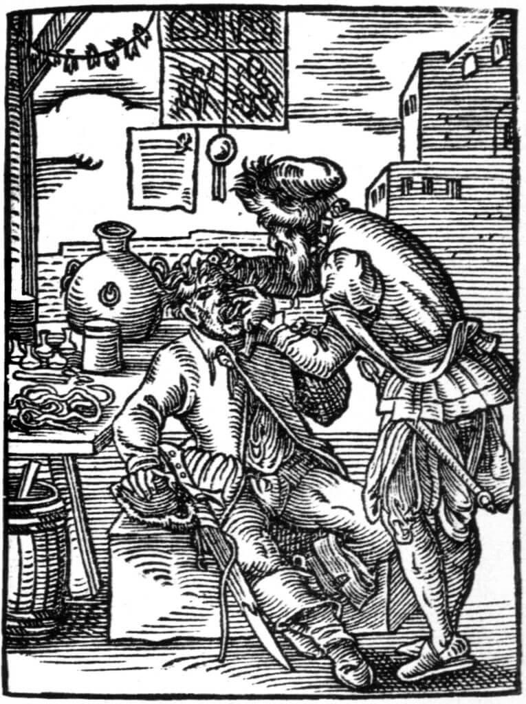 תמונה עתיקה של רופא שיניים